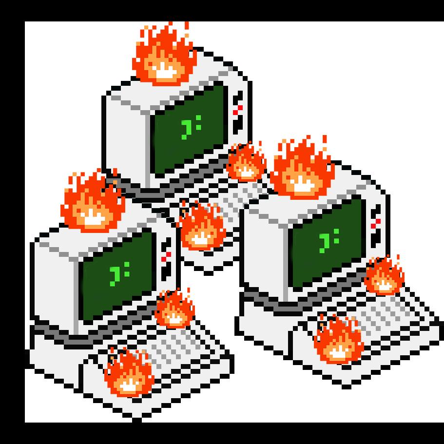 3 Burning Computer